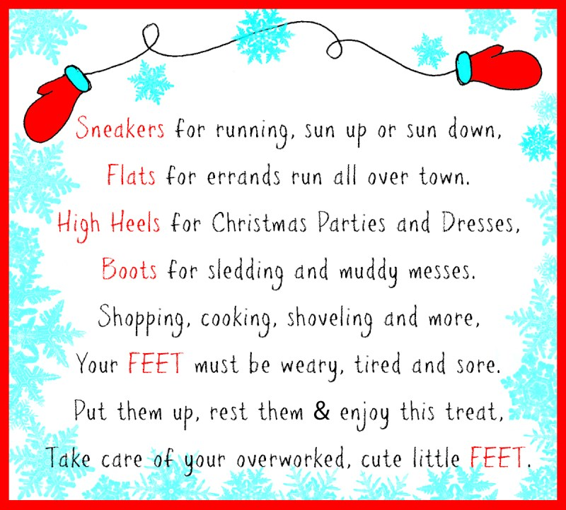 Pedicure Set Christmas Poem