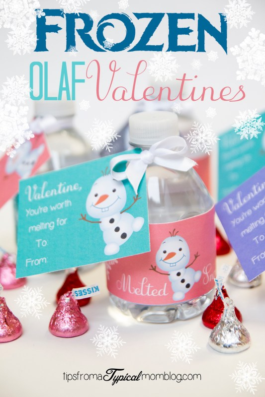 "Frozen ""You're Worth Melting For"" Valentines Free Printable"