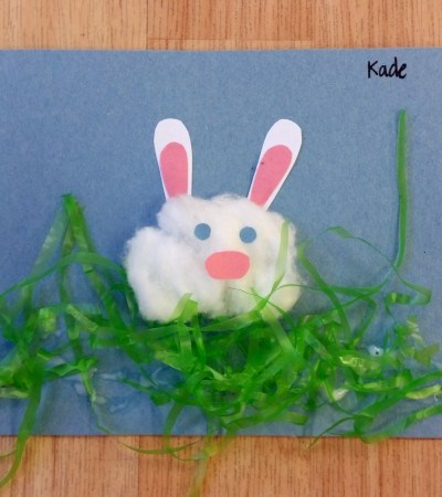 Easter bunny craft for kidsEaster bunny craft for kids