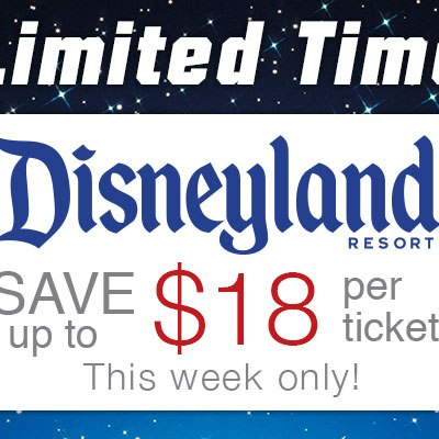 $18 off Each Ticket To Disneyland Resort