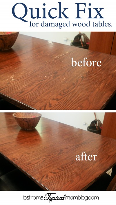 Quick Fix for Water Damaged Wood Dining Room Tables