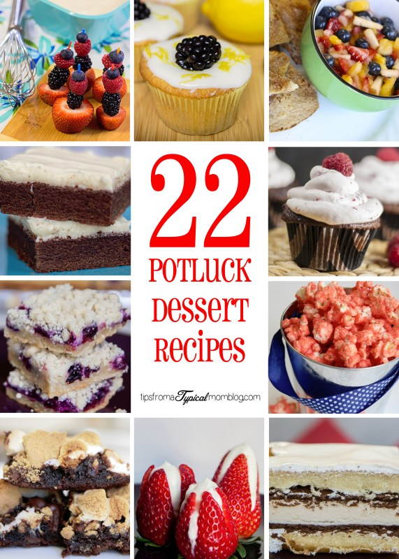 22 Potluck Dessert Recipes