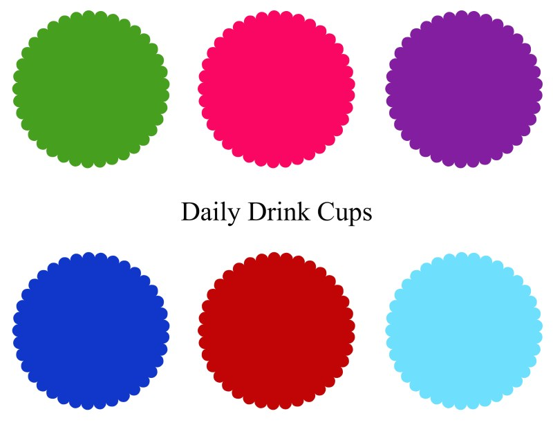 Summer Drink Cup Place Mat