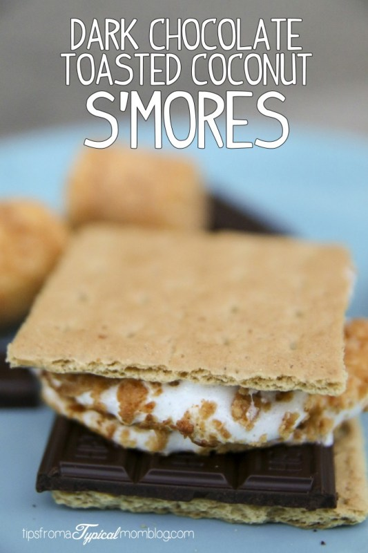 Dark Chocolate Toasted Coconut S'Mores