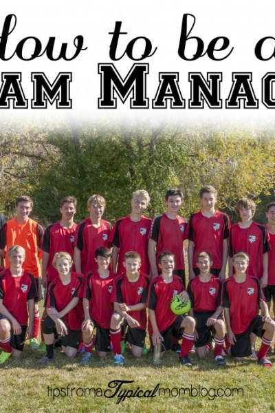How to be a Sports Team Manager for your Child