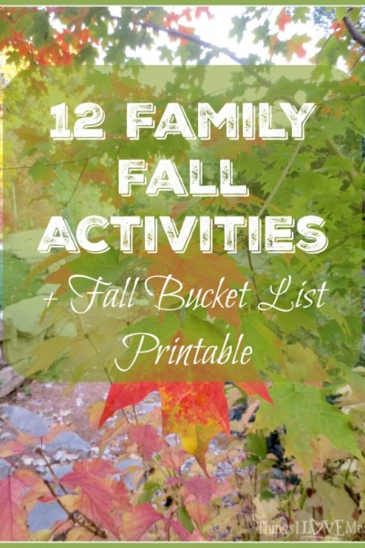 12 Family Fall Activities + Fall Bucket List Printable