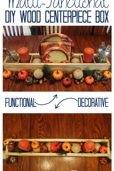 Wood DIY Multi-Functional Centerpiece Box