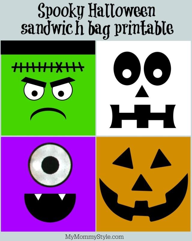 Spooky Halloween Sandwich Bag Printables~ Oktoberfest!
