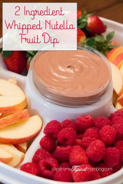2 Ingredient Whipped Nutella Fruit Dip
