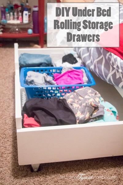 DIY Under Bed Rolling Storage Drawers Tutorial