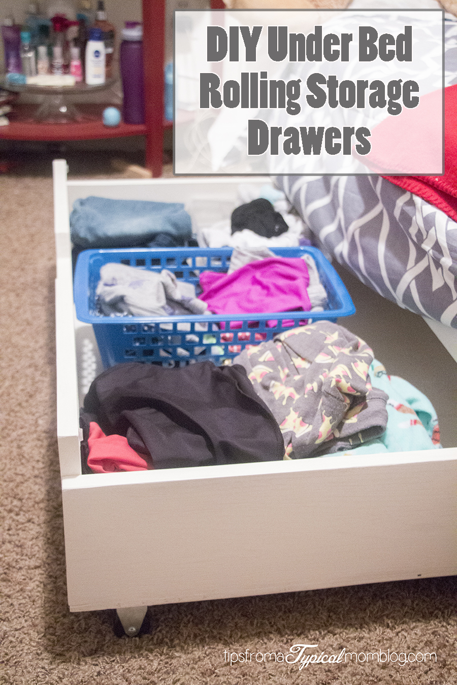 Diy Under Bed Rolling Storage Drawers Tutorial Tips From A