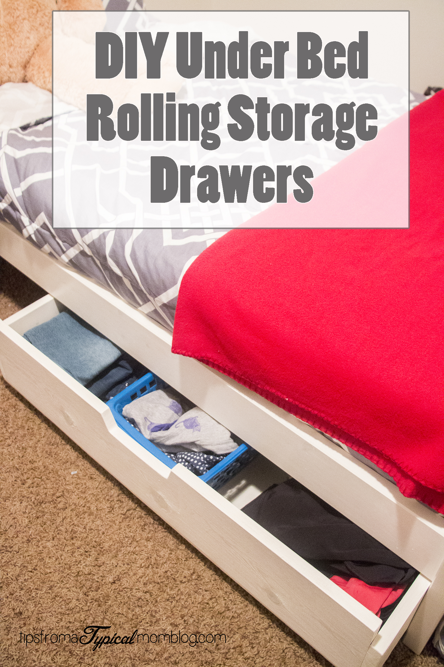 Drawers For Under Bed Diy Under Bed Rolling Storage Drawers Tutorial Tips From A