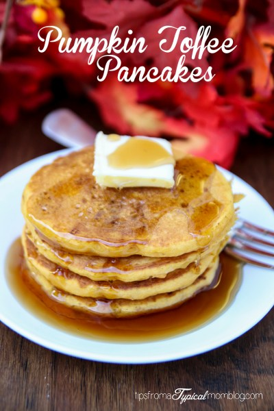 Easy Pumpkin Toffee Pancakes Recipe