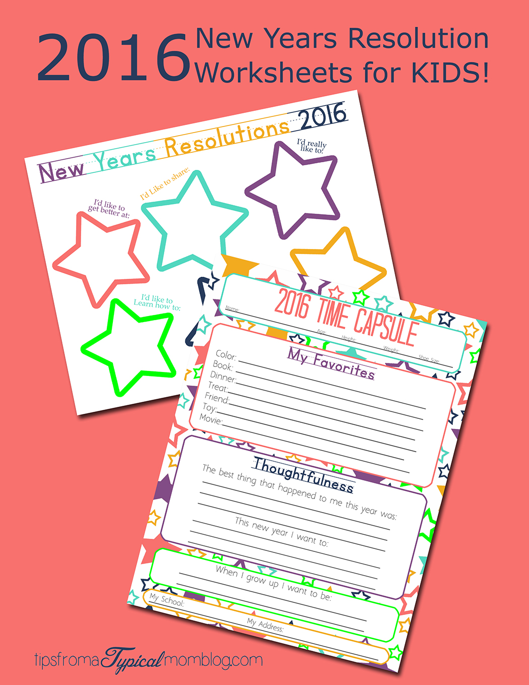 Making New Years Resolutions With Your Kids Free Printable Worksheets