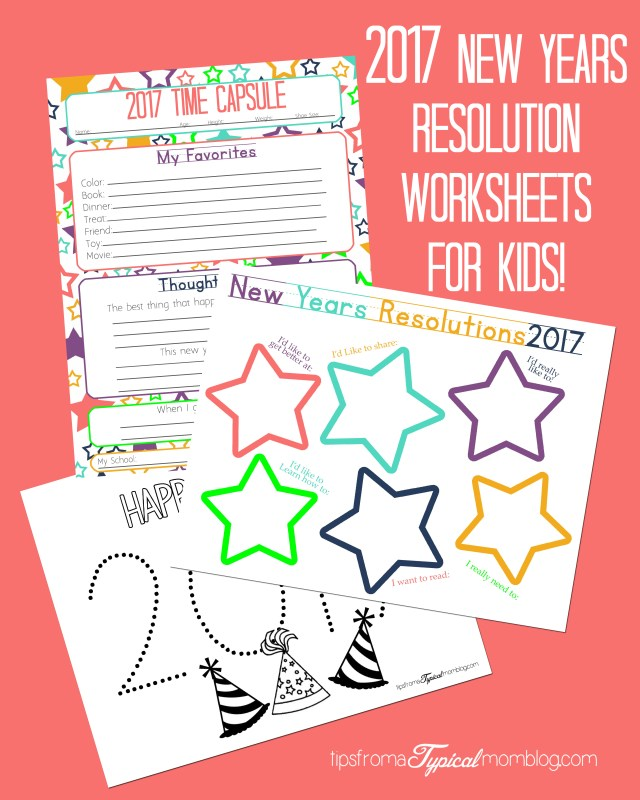New Years Resolution & Time Capsule Worksheets and Activities for ...