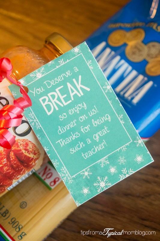 Teacher Neighbor Friend Printable Gift Tags