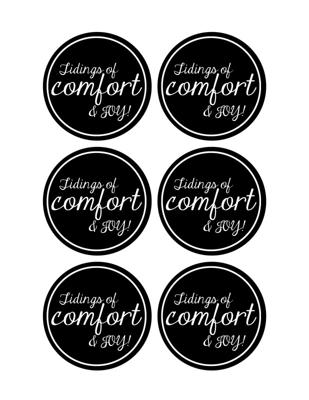 Tidings of Comfort and Joy Gift Tag
