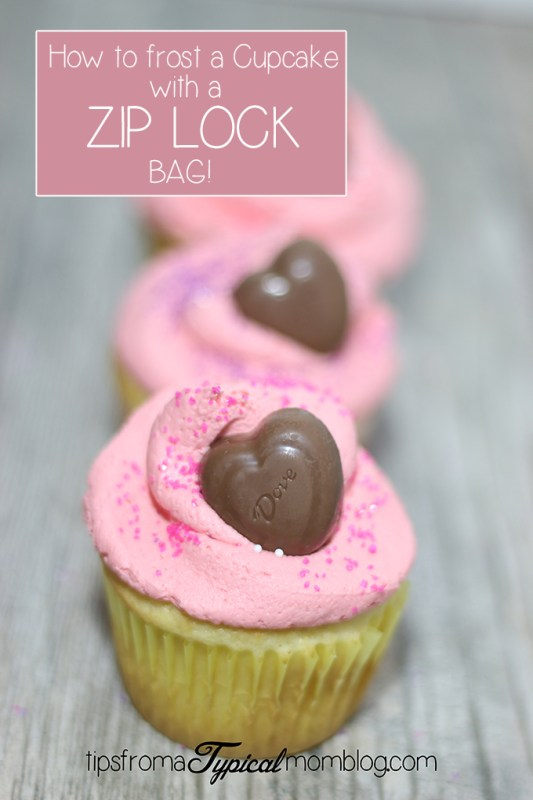 How to Frost Cupcakes with a Zip Lock Bag Video Tutorial