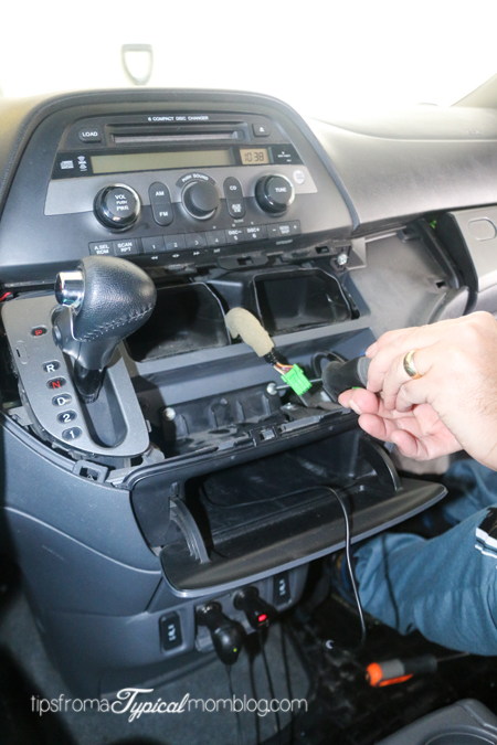 [SCHEMATICS_4CA]  How to Install an AUX Input Cable in your Honda Odyssey So You Can Listen  To Music From Your Phone - Tips from a Typical Mom | 2007 Honda Odyssey Aux Wiring |  | Tips from a Typical Mom