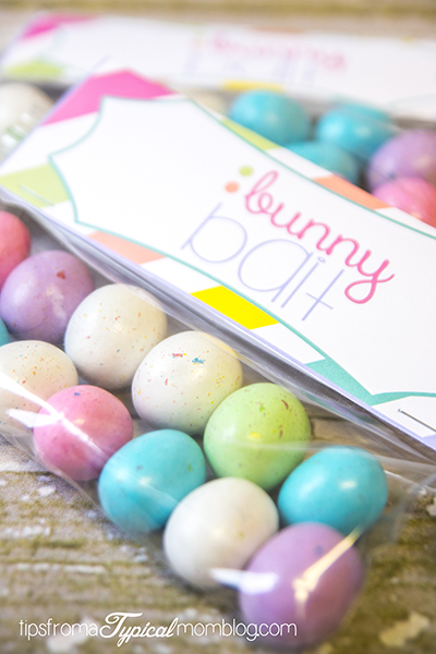 Bunny Bait Free Printable Easter Treat Bag Toppers