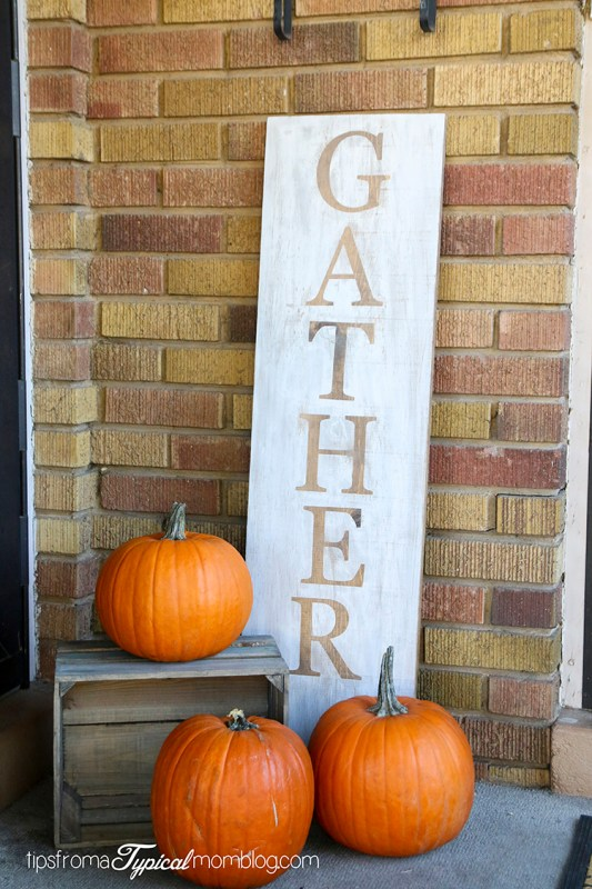DIY Gather Fall Porch Sign