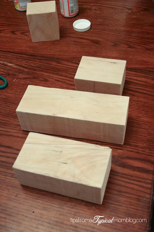 DIY Wood Block Pumpkins