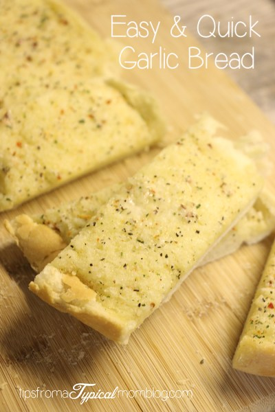 3 Ingredient Easy & Quick Garlic Bread Recipe