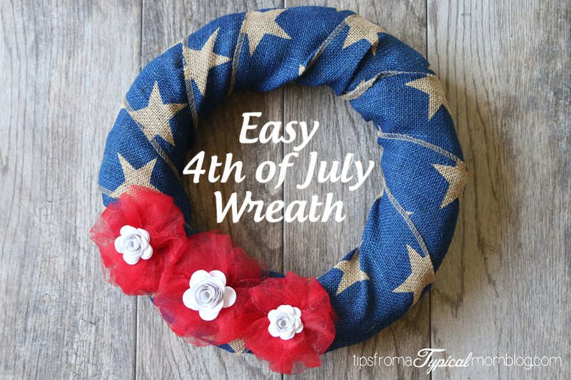 Easy 4th of July Wreath