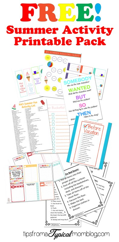 Free Summer Family Activity Pack complete