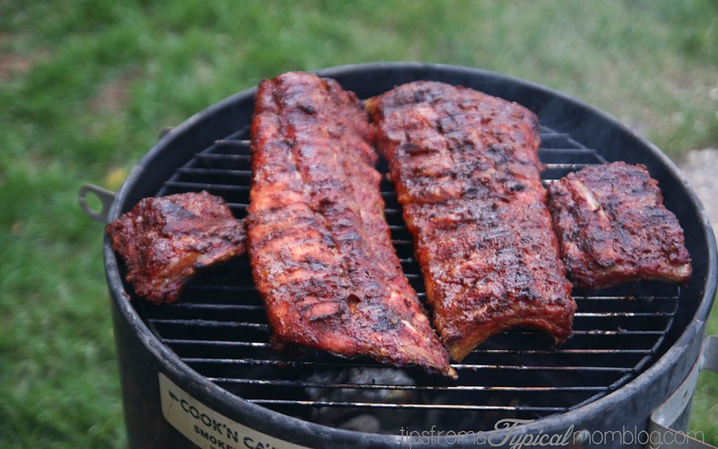 How to Grill Ribs over Charcoal + Kid Friendly Rib Rub Recipe