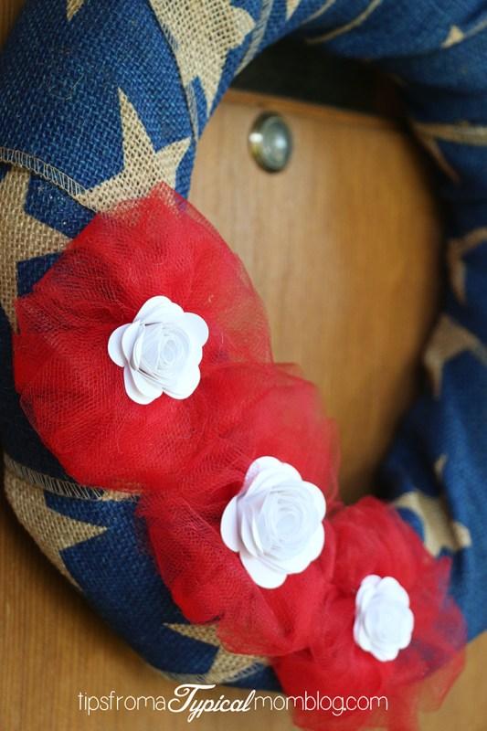 Easy 4th of July Burlap Wreath