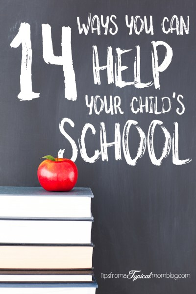 14 Ways to Help Your Child's School