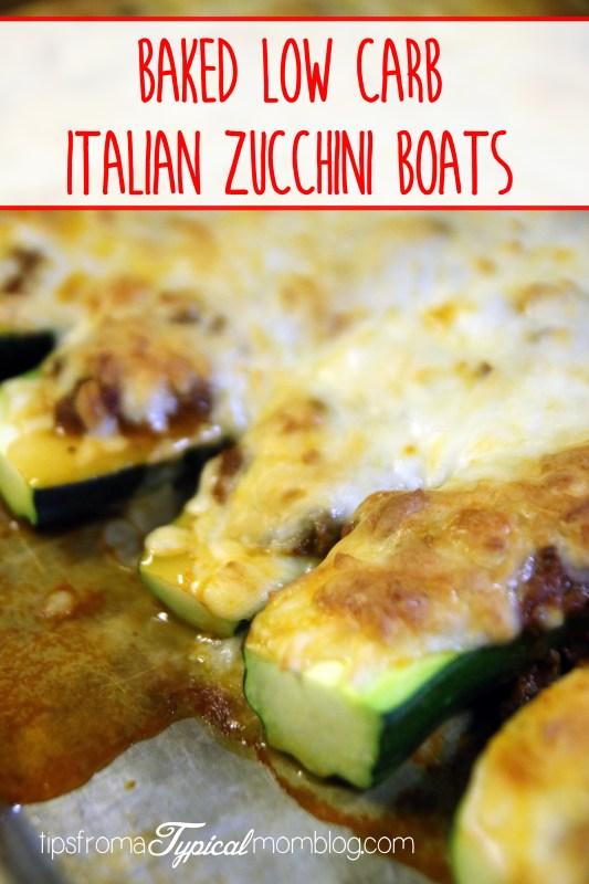 Baked Italian Zucchini Boats