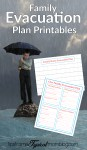 Family Emergency Evacuation Printables + Free Preparedness Printable Bundle
