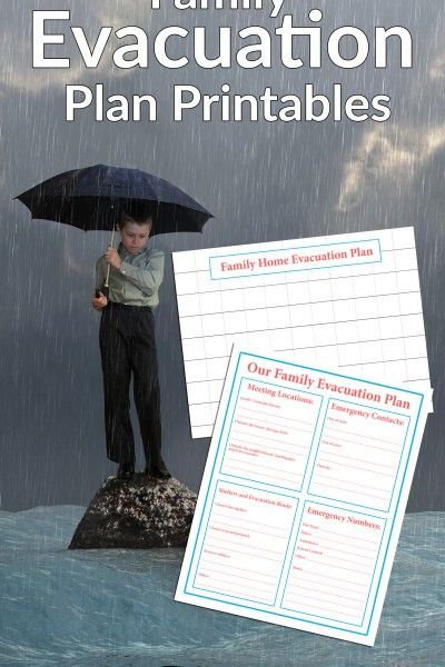 Family Emergency Evacuation Printables + Free Preparedness Printable Bundle