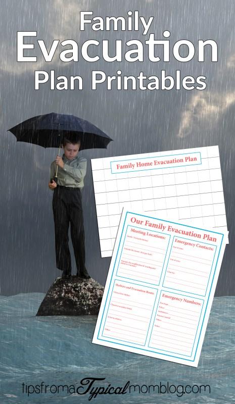 Family emergency evacuation printables free preparedness for Family fire safety plan