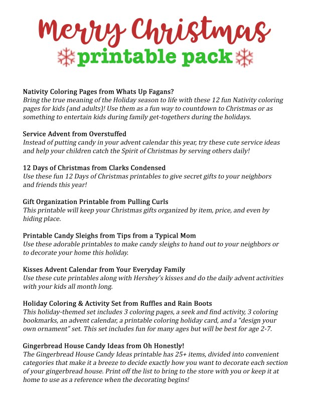 Christmas Printable pack (1)