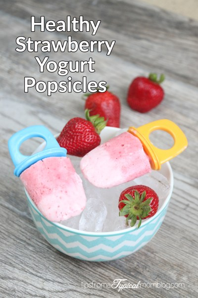 Healthy Strawberry Yogurt Popsicles for Kids