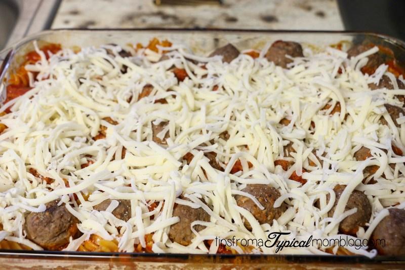 Meatball Pasta Bake