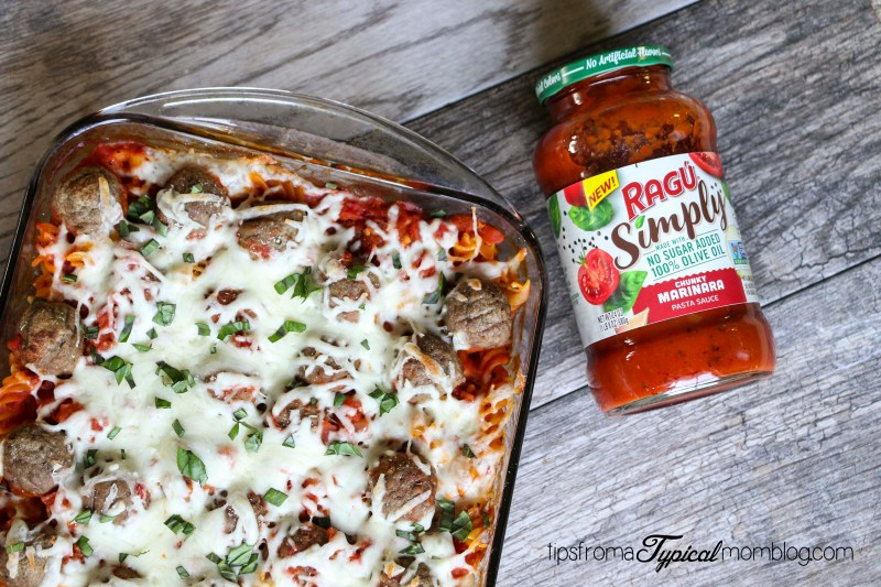 "Meatball Pasta ""Dump It And Forget It"" Weeknight Casserole"