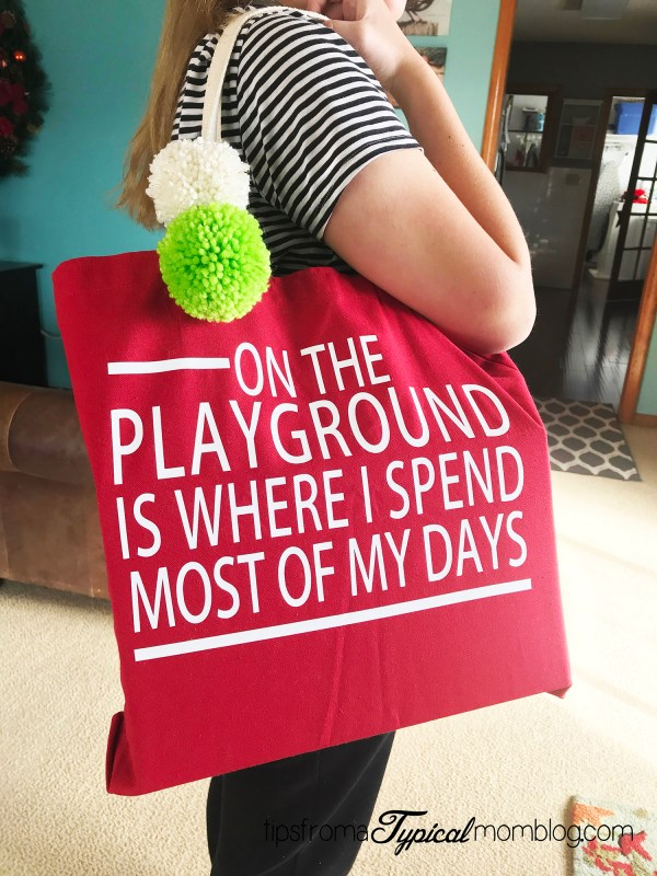 Teacher Tote Bag Custom Christmas Gift with Cricut and Easy Press 2