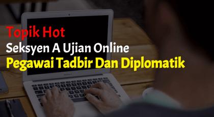 peperiksaan online pegawai tadbir diplomatik
