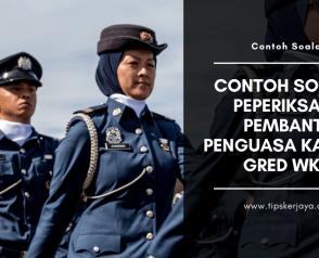 Contoh Soalan SPiER Penguasa Imigresen Gred KP41