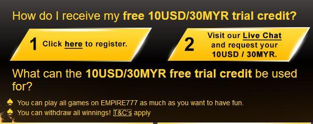 Percuma RM30 Untuk Bermain Slot