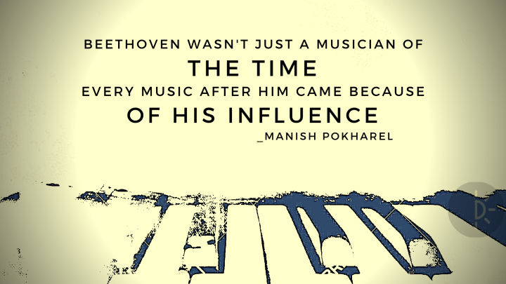 World Music Day quotes for Beethoven with piano design