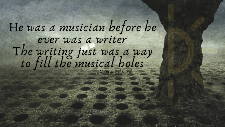 World Music Day Quotes with a dark background and a tree