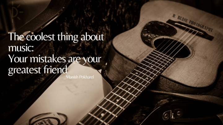 World Music Day quotes on a guitar background