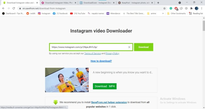 How to Download Videos and Photos from Instagram without using apps?