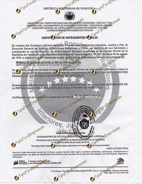 Carta de no poseer Antecedentes penales Tips para empresa