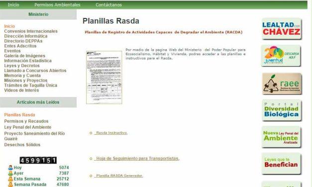 RACDA – Registro de Actividades Capaces de Degradar el Ambiente